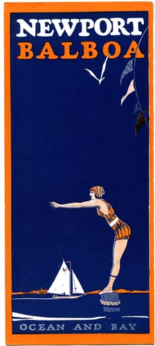 brochure cover for newport beach in 1924